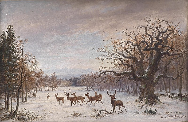 File:Ernst Gustav Doerell - Rothirsche im Winter (1875).jpg