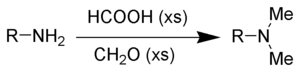 The Eschweiler–Clarke reaction is used to methylate amines.