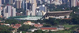 Guarani FC - Overview of the Brinco de Ouro stadium.