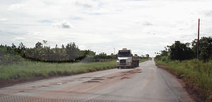 BR-364 - Section in Rondônia from Cacoal to Presidente Médici