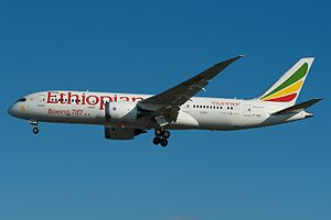 Ethiopian Airlines - A Boeing 787-8 Dreamliner