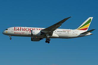 Ethiopian Airlines - A Boeing 787-8 Dreamliner