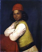 Dark-skinned child in colourful clothing