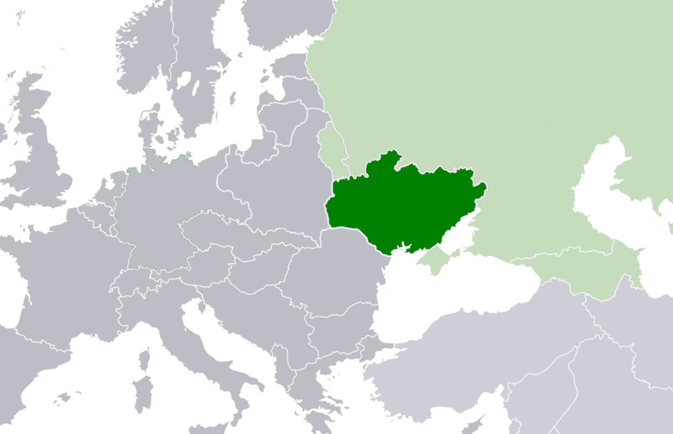 Europe location UkrSSR 1922