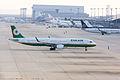Eva Airways, BR130, Airbus A321-211, B-16209, Arrived from Taipei, Kansai Airport (17196818721).jpg