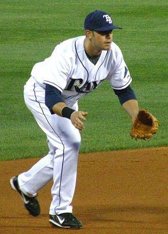 2008 World Series - Tampa Bay third baseman Evan Longoria, pictured during the 2008 regular season, got his first hit in Game 5.