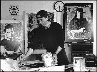 Jim Evans (artist) - Jim Evans painting