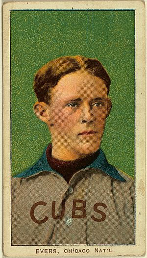 Baseball's Sad Lexicon - Image: Evers baseball card