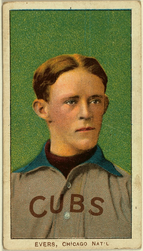 Evers baseball card
