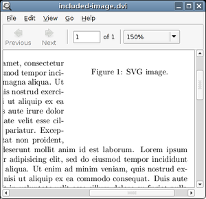 Device independent file format - Image: Evince previewing a DVI file