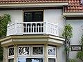 Ewijk (Beuningen, Gld) boerderij Vordingstraat 36 balkon en naam.JPG