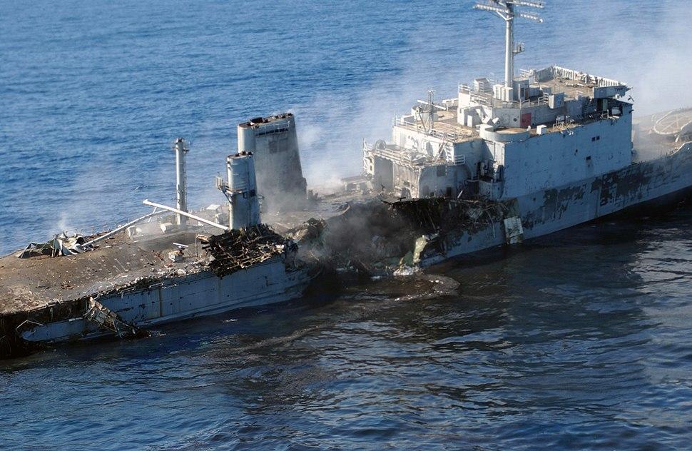 Ex-Schenectady (LST-1185) sinking