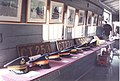 Exhibition of peaked caps of locomotive drivers and steam engines number plates.jpg