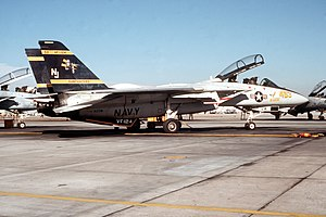 An F-14 A Tomcat aircraft of Fighter Squadron ...