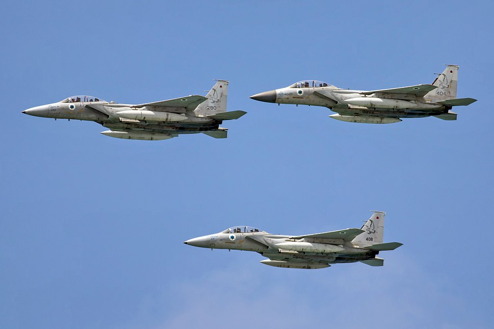 F-15 IAF Israel Independence Day flyover