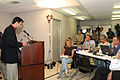 FEMA - 37772 - Governor Bobby Jindal at the podium in Louisiana making a statement to the press.jpg