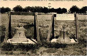 Balangiga bells - Two Balangiga bells exhibited at Fort D.A. Russel, now F. E. Warren Air Force Base