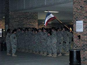 United States Army Basic Training - Morning company formation at Fort Jackson in Columbia, South Carolina