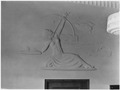 FWA-PBA-Paintings and Sculptures for Public Buildings-bas relief of classical woman archer with words over land and... - NARA - 195800.tif
