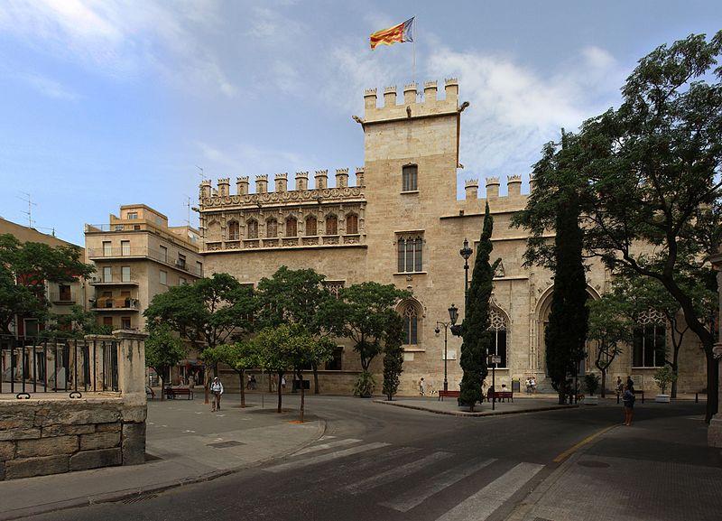 File:Fachada de la Lonja de la Seda en Valencia.jpg