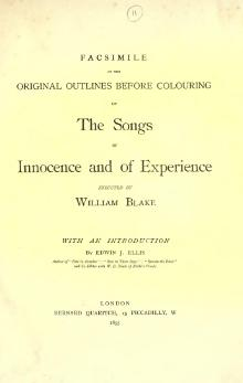 Facsimile of the original outlines before colouring of The songs of innocence and of experience executed by William Blake.djvu