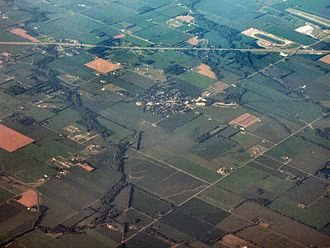 Fairland, Indiana - Fairland from the air, looking northeast