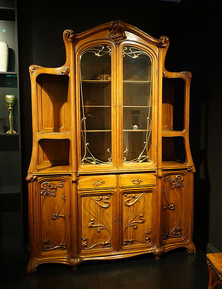Dining-room vitrine, designed by Eugene Gaillard, Paris, 1899-1900
