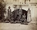 Famine in Bangalore, India; a group of emaciated women and c Wellcome V0029721.jpg