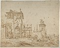 Fanciful Landscape (Landscape with Villa Building and Equestrian Monument) MET DP801289.jpg