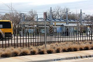Farmers Branch station DART light rail station in Farmers Branch, Texas
