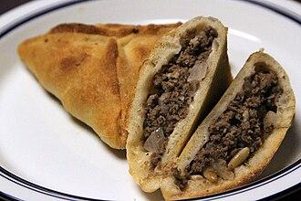 Meat pie - Fatayer, a meat pie in Middle Eastern cuisine
