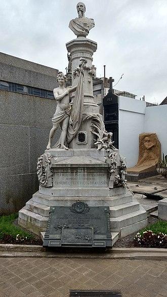 Federico de Brandsen - Monument to Federico de Brandsen in Recoleta Cemetery