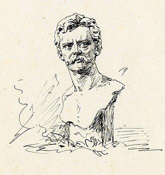 Moses Jacob Ezekiel - Fedor Encke. Drawing by Moses Jacob Ezekiel
