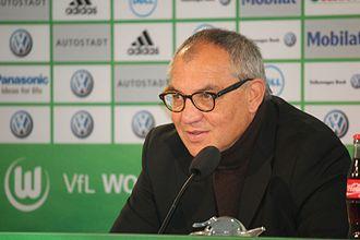Felix Magath - Magath at a press conference of VfL Wolfsburg in 2011