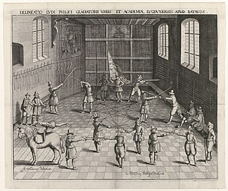 Fencing - Fencing School at Leiden University, Netherlands 1610
