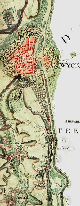 Ferraris map - Map of Maastricht.
