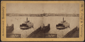 Ferry boat approaching the docks, from Robert N. Dennis collection of stereoscopic views.png