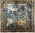 Fiandre, arazzo con animali su paesaggio, xvi secolo.jpg