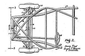 Soybean car - Soybean car frame patent, Fig. 2