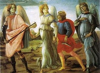 Sabauda Gallery - Image: Filippino lippi, tobiolo e i tre arcangeli, 1485, torino, galleria sabauda