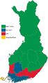 Finnish parliamentary election, 2007 results by constituency.png