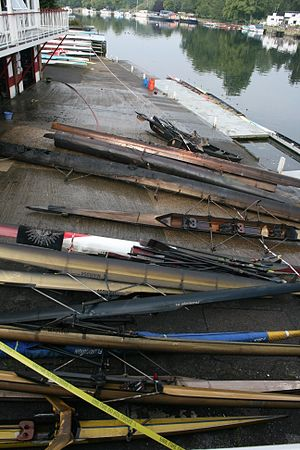 Marlow Rowing Club - Fire Damaged Boats at MRC following the fire in 2011