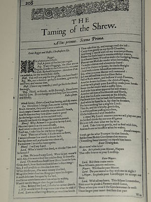 master servant relationship in taming of the shrew text
