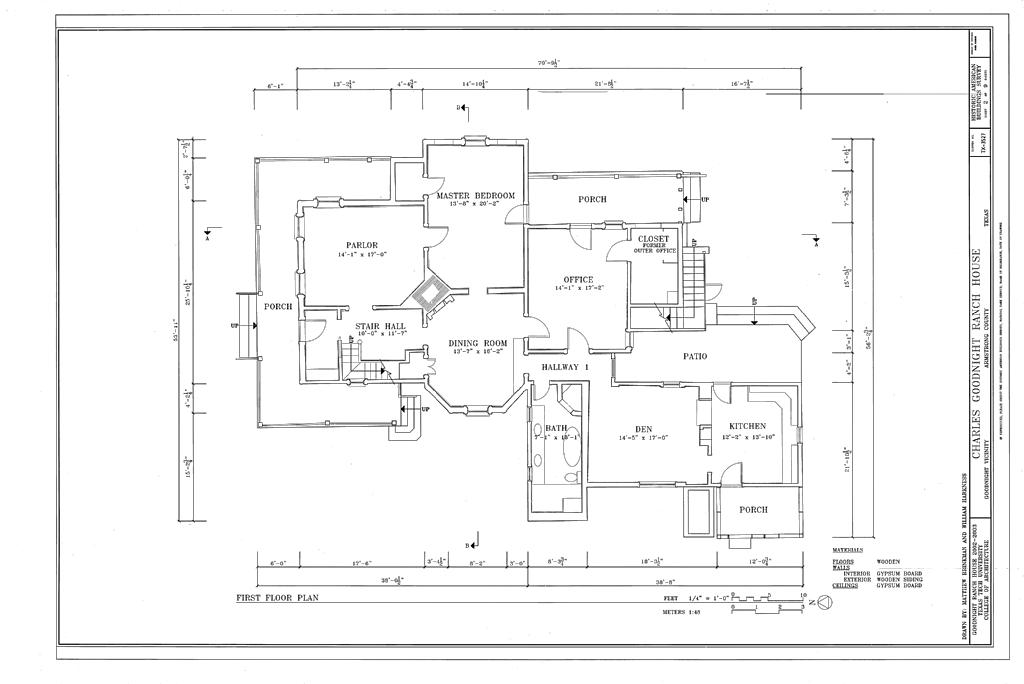 File first floor plan charles goodnight ranch house for Armstrong homes floor plans