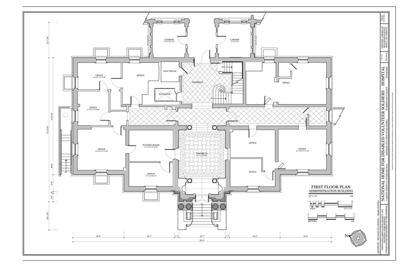 File first floor plan national home for disabled for Floor plans first