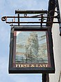 First and Last pub sign, Penzance, April 2021.jpg