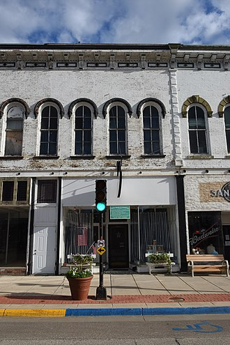 National Register of Historic Places listings in Buchanan County, Iowa - Image: Fisher Plane Commercial Building 119 1st. Street, E