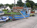 Fishing trawler in harbour Cheekpoint village Co Waterford Ireland 2010.jpg