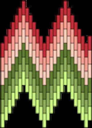 Bargello (needlework) - Image: Flame