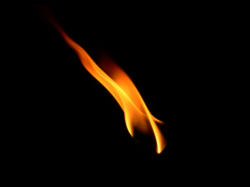 File:Flame from a Burning Candle.JPG
